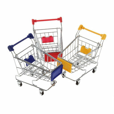 Mini Supermarket Shopping Cart Handcart Shopping Utility Cart Mode Storage Toy