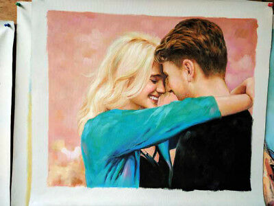 Commission Couple Portrait Oil Painting From Photo , Impressionist Custom Art