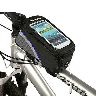 Roswheel Outdoor Mountain Bike Bicycle Pouch Cycling Frame Front Top Tube Bag UK
