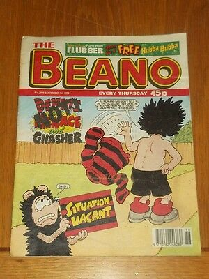 Beano #2929 5Th September 1998 British Weekly