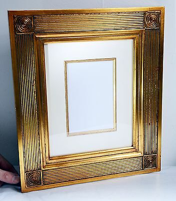 Beautiful Large Gilt Picture / Photo Frame with Glass - 37 x 32 cms and 1.3 kgs.
