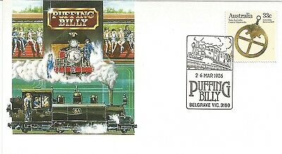 Australia Fdc-1986 Puffing Billy