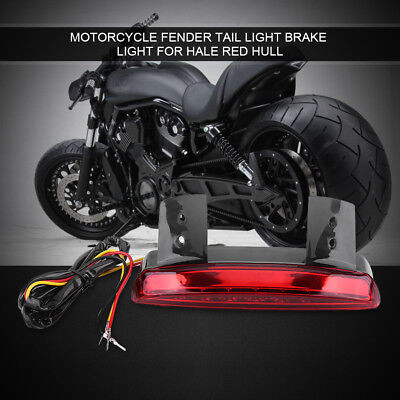 Motorcycle Rear Brake Tail Light 8 LED License EB For Harley Bobber Cafe Racer