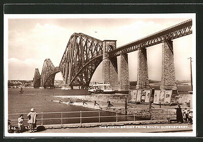 tolle AK Edinburgh, The Forth Bridge from South Queensferry 1958