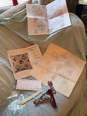 Vintage Embroidery Kit To Make A Cushion
