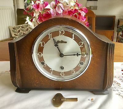 Vintage 'bentima' Westminster Chime Mantel Clock - Working With Key