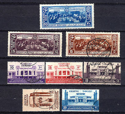 Egypt 1936 Sets X 2 Used Stamps