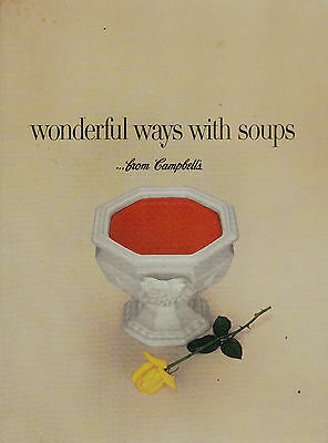 Vintage Campbell's Cook Book Wonderful Ways With Soups