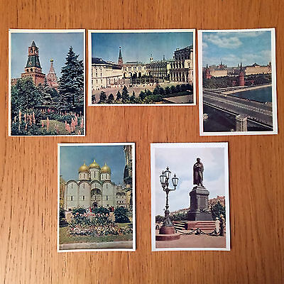 Collection of 5 Vintage Postcards from Soviet Union Circa 1950s