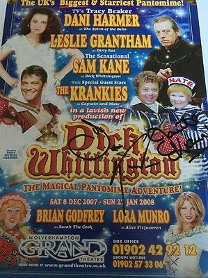 Dick Whittington Signed Theatre Flyer Signed The Krankies