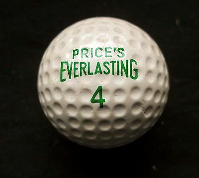 VINTAGE DIMPLE PATTERN GOLF BALL - PRICE'S EVERLASTING No4