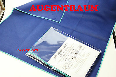 Microfiber cloth extra large 40x40cm Glasses cleaning dark blue New