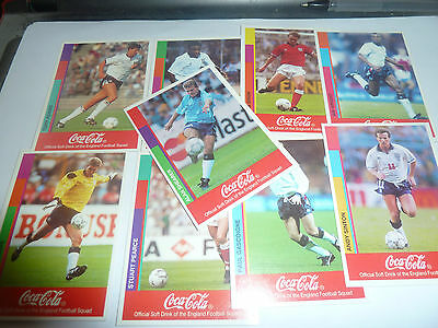 1990S Coca Cola England  World Football Squad Cards-All Listed