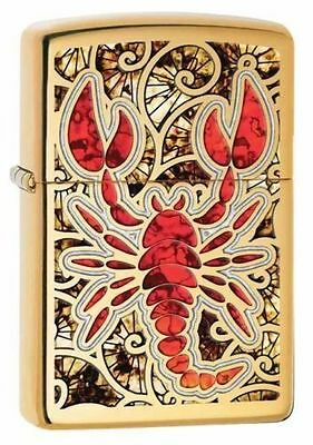 Zippo 29096, Scorpion-Fusion, High Polish BrassFinish Lighter,  Full Size