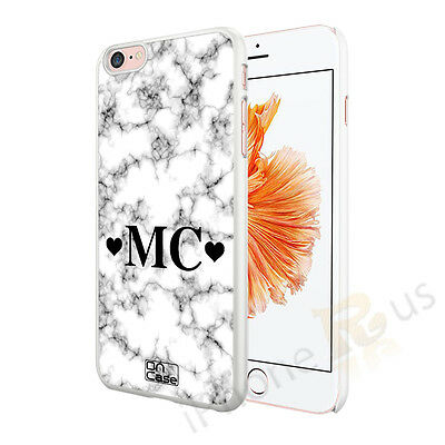 White Black Marble Personalised Phone Case Cover For Various Mobile Phones