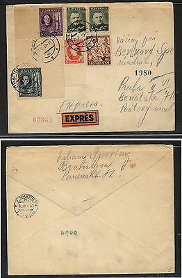 Slovakia  express   cover   1939           MS0217