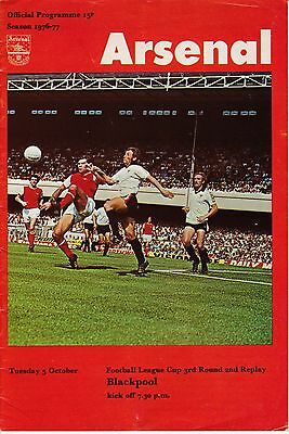ARSENAL  v  BLACKPOOL  ( League Cup, 2nd replay )  1976/7.