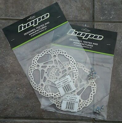2 Hope Tech 160Mm Floating Saw Brake Disc Rotors Mtb Mountain Bike 6 Bolt Silver