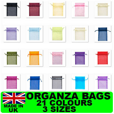 Organza Pouch Bag Jewellery Wedding Reception Party Sweets Favours Xmas Gifts