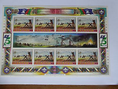 Lesotho Mint Miniature Sheet. 75Th Anniversary Of Scouting 1982. Excellent Condn