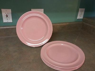 Set of 4 Signature CARNIVALE Stoneware ROSE/PINK Dinner Plates