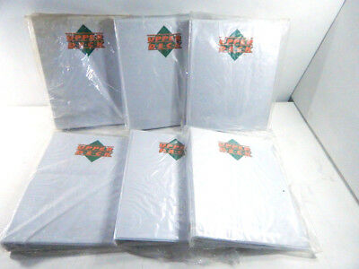 "Lot of (6) 1 1/2"" White Upper Deck Trading Card Albums"