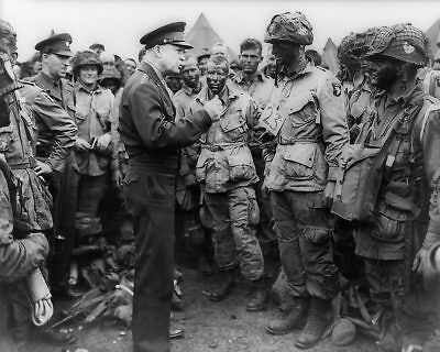 General Dwight Eisenhower with Troops WWII 11x14 Silver Halide Photo Print