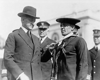 President Coolidge Decorating Sailor with Medal 8x10 Silver Halide Photo Print