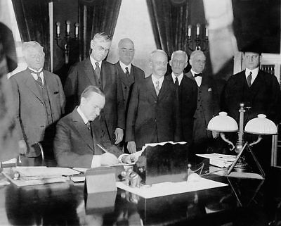 President Calvin Coolidge Signing Tax Bill 8x10 Silver Halide Photo Print