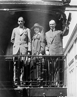 President Calvin Coolidge on Campaign Trail 8x10 Silver Halide Photo Print