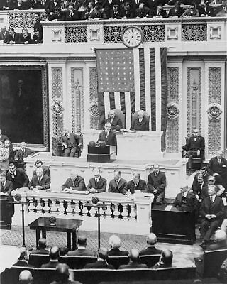 PRESIDENT COOLIDGE FIRST ADDRESS TO CONGRESS 8x10 SILVER HALIDE PHOTO PRINT