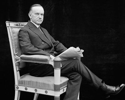 Sitting Portrait of President Coolidge 1924 8x10 Silver Halide Photo Print