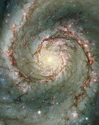Hubble Space Telescope Whirlpool Galaxy 11x14 Silver Halide Photo Print