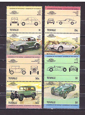 Francobolli TUVALU 1984 Automobili Leaders of the World MNH** YV279-86