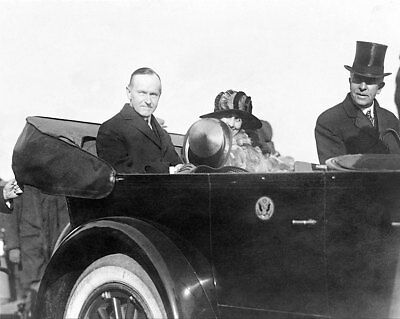 President Calvin Coolidge & First Lady 1923 8x10 Silver Halide Photo Print