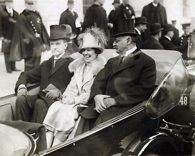 President Calvin Coolidge & Mrs. Coolidge 8x10 Silver Halide Photo Print