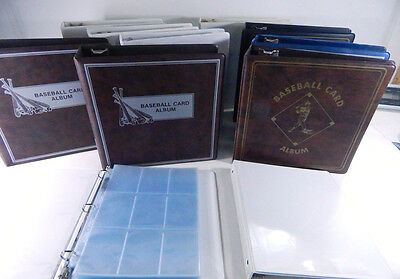 Lot of (11) USED 3-Ring Binders ~ Baseball Card Albums & (34) 9-pocket pages