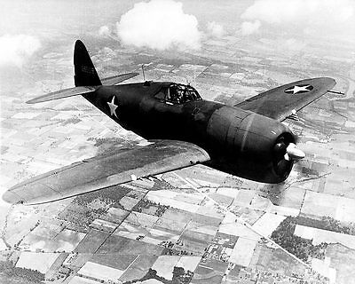 Republic P-47D / P-47 Thunderbolt in Flight 11x14  Silver Halide Photo Print