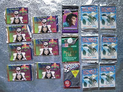 16 OLD UNOPENED NON SPORT PACKS POWER RANGERS CARDS Free Willy ELVIS LOT C