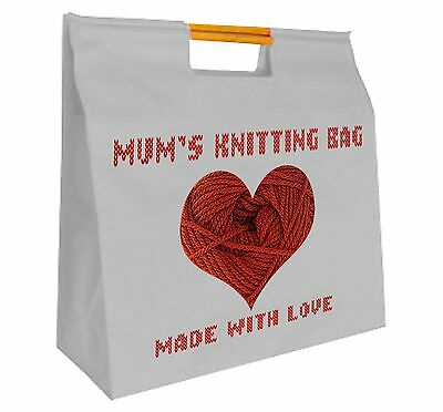Mum's Personalised Wooden Handled Knitting Bag  Ideal Mothers Day Gift ~ Crochet