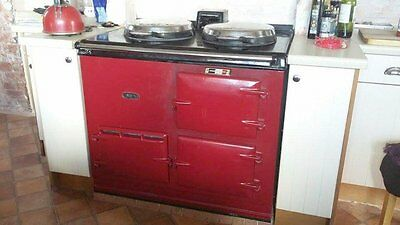 Aga Oil Fired 2 Oven - Model OC in Claret - Good Condition