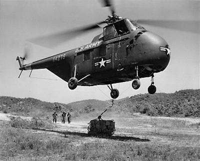 1953 MR Korea Chickasaw Helicopter Brings Food 25th Division 8x10 Photo