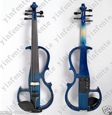 16'' electric Viola Solid wood Powerful Sound Blue Color Bow Case Rosin Yinfente