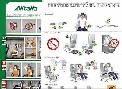 20 x BARGAIN AIRLINE SAFETY CARDS