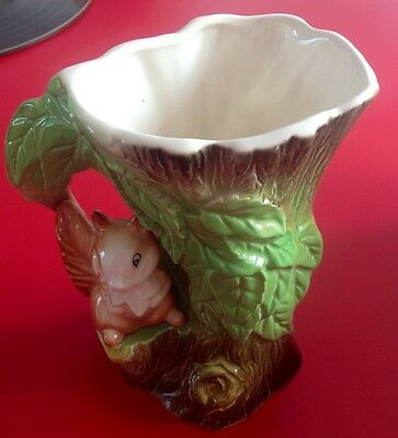 Withernsea ~ Eastgate Pottery ~ Fauna ~ Made in England ~ Squirrel on a log Jug