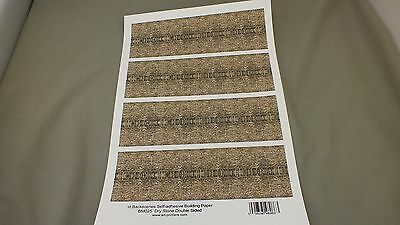 Bm25  Dry Stone Self Adhesive Single A4 Sheet      Oo Gauge    S6D
