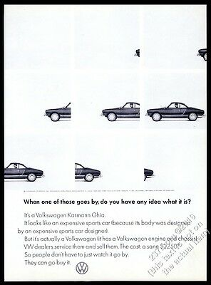 1966 VW Volkswagen Karmann-Ghia 8 photo vintage print ad