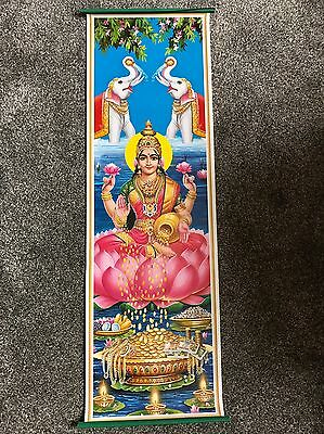 Wall Hanging Of Hindu Goddess  Lakshmi