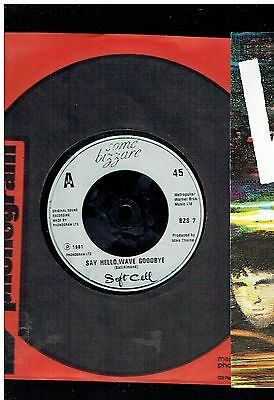 Soft Cell Say Hello Wave Goodbye 45 1981