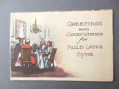 Vintage Christmas Card Brent Press Pop Out Scene Butler and Servant with Pudding